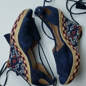 Cabi Isla espadrille leather wedges
